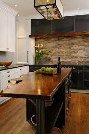design glossy marble countertop black rustic stained wooden full size of brown varnished wooden rustic kitchen island under pendant light laminate flooring country cabinet