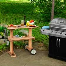 Patio Table Grill How To Build A Rolling Grill Table Grill Table Grilling And