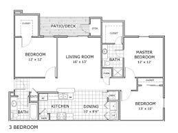3 bedroom 2 bath floor plans 3 bed 2 bath apartment in springfield mo orchard park apartments