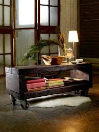 plush reclaimed wood coffee table