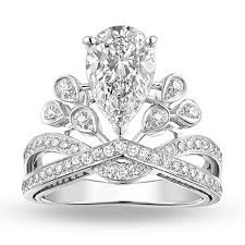 baby engagement rings images Crown style white cubic zirconia white filled wedding ring angel jpg