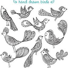 hand drawn bird vector free vector download 7 425 free vector