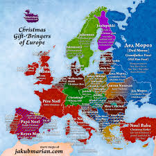 Europe Map With Country Names by Christmas Gift Bringers Of Europe