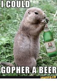 Gopher Meme - i could spat gopher a beer funny c3 beer meme on me me
