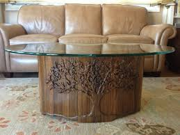 hand carved coffee table david frisk furniture coffee table hand carved tree in base