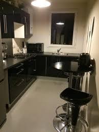 meuble cuisine laqué noir meuble de cuisine laqué noir idée de modèle de cuisine