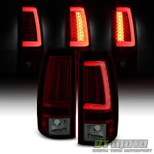 2006 gmc sierra tail lights 2003 2004 2005 2006 chevy silverado red smoke led tube tail lights