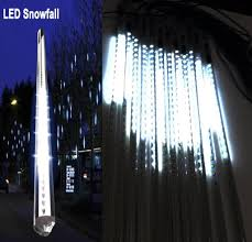 20 inches linkable snow white led snowfall lights sided