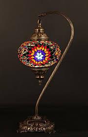Mosaic Chandelier Turkish Table Lamp Swan Neck Arabian Mosaic Lamps Moroccan Lantern