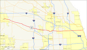 Chicago Il Map by Illinois Route 19 Wikipedia