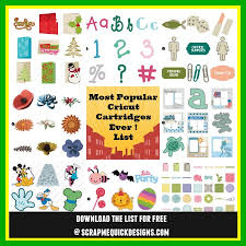 most popular cricut cartridges
