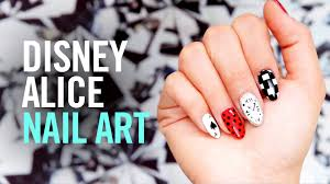 alice in wonderland nail art tutorial tips by disney style youtube
