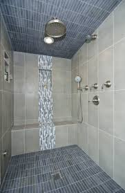 best 25 vertical shower tile ideas on pinterest large tile beautiful tilework highlights this steam shower bathroom
