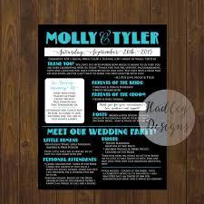 wedding program poster hadley designs programs