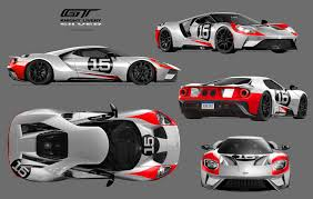 gulf gt40 2017 ford gt custom liveries on behance