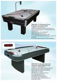 Air Hockey Table Dimensions by 7 5 U0027 Electronic Score Projection Air Hockey Table