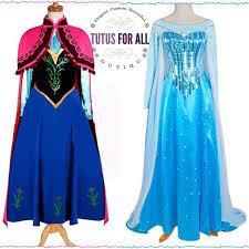 Elsa Halloween Costume Adults Frozen Anna Elsa Dress Costume Cosplay Costume Costumes