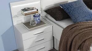 Schlafzimmer Bett Mit Led Set Friedberg Bett Kleiderschrank Nako Weiß