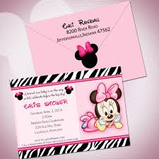 unique ideas for minnie mouse baby shower invitations free