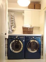 Shower Curtain Washing Machine Laundry Room With Countertop U0026 White Baluster Legs Cabinets