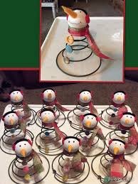 snowman u0027s made from old bed springs u0026 vintage buttons jay