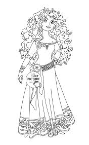 brave merida coloring page for kids disney princess coloring
