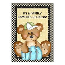 camping bear family reunion invitation invitations 4 u
