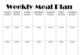 free meal planning chart printable coupon closetweekly meal plan
