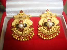 golden earrings earrings manufacturer from muzaffarpur