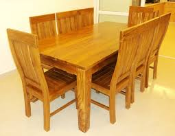 Teak Wood Dining Tables Teak Dining Room Sets Onyoustore Com