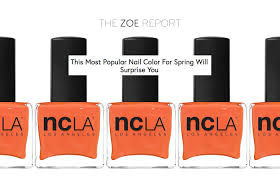 the zoe report this most popular nail color for spring will