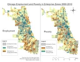 Census Tract Map Chicago by April 2016 Chicago Employment And Poverty In Enterprise Zones