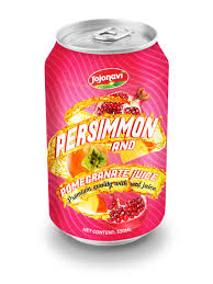 canned fruit juice supplier original persimmon with pomegranate
