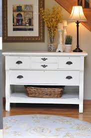Narrow Entry Table by Paint A Dresser Take Out Bottom Drawer Add Baskets And There Is
