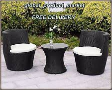 Egg Bistro Chairs 2 Seater Rattan Bistro Set Swivel Egg Chairs Table Aluminium