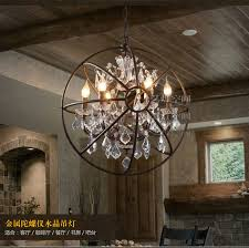 Chandelier Restoration Foucault U0027s Orb Crystal Chandelier Antique Rust Globe Pendant Lamp