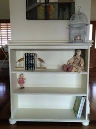 Annie Sloan Painted Bookcase Bookcase Shabby Chic White Bookshelf New Narrow Bookcases Small