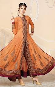 buy designer indo western gown style dress for weddings wear at