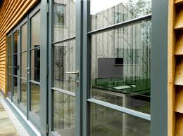 love these contemporary french doors exteriors for a bungalow