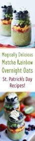 st patrick u0027s day recipe matcha rainbow overnight oats