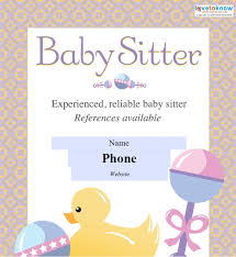 babysitting flyer template babysitter leaflet with baby carriage