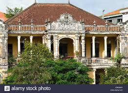 colonial architecture colonial architecture phnom penh cambodia stock photo