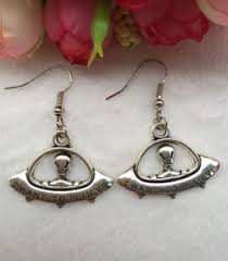 creative earrings antique silver earring jewelry creative saucerman earring