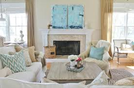 diy abstract art u0026 modern coastal family room tour city farmhouse