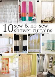 how to make curtains 10 diy shower curtains sew and no sew andrea s notebook