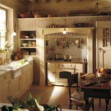 amazing rustic french country style kitchen with brown color