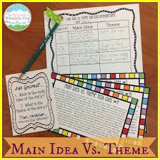 teaching with a mountain view teaching main idea vs theme