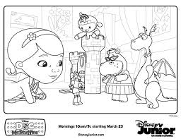 Doctor Mcstuffins Coloring Pages Doc Mcstuffins Playroom Free Disney Junior Coloring Sheets And Activity Sheets