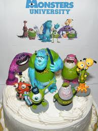 Monster Inc Decorations Amazon Com Disney Monsters Inc Deluxe Mini Cake Toppers Cupcake