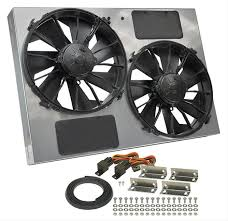 electric radiator fans derale high output dual rad fan and shroud kits 16927 free